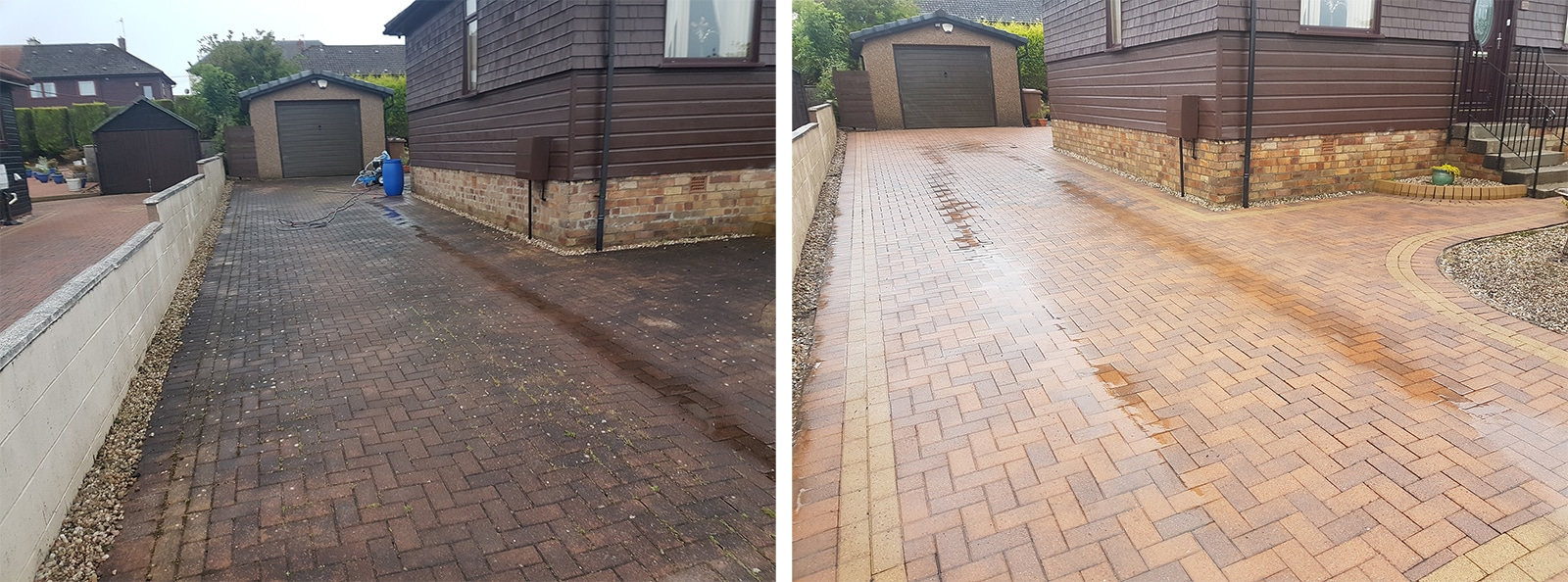 Driveway Cleaning Transformation