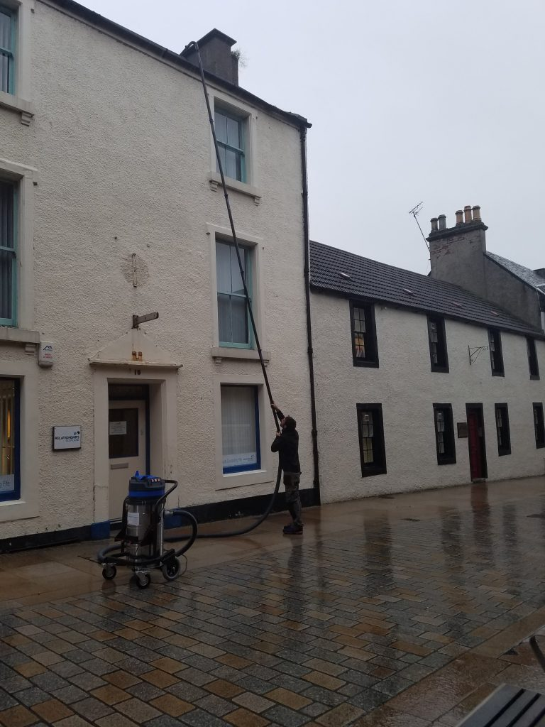 High Level Gutter Cleaning In Fife Fife Commercial Gutter Cleaning Fife Window Cleaning Services